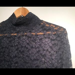 See through lace turtleneck